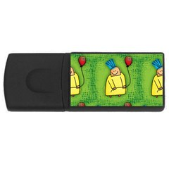 Party Kid A Completely Seamless Tile Able Design Usb Flash Drive Rectangular (4 Gb)