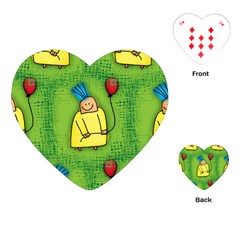 Party Kid A Completely Seamless Tile Able Design Playing Cards (heart)
