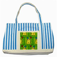 Party Kid A Completely Seamless Tile Able Design Striped Blue Tote Bag