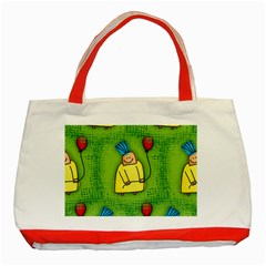 Party Kid A Completely Seamless Tile Able Design Classic Tote Bag (Red)