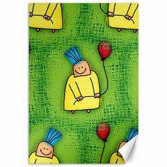 Party Kid A Completely Seamless Tile Able Design Canvas 12  x 18