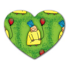 Party Kid A Completely Seamless Tile Able Design Heart Mousepads