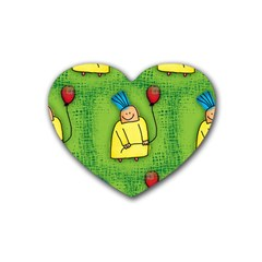 Party Kid A Completely Seamless Tile Able Design Rubber Coaster (heart)