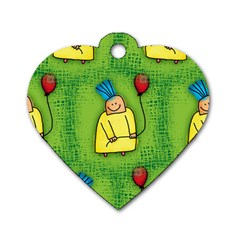 Party Kid A Completely Seamless Tile Able Design Dog Tag Heart (two Sides)