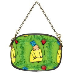 Party Kid A Completely Seamless Tile Able Design Chain Purses (two Sides)