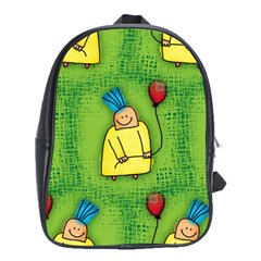 Party Kid A Completely Seamless Tile Able Design School Bags(Large)