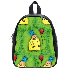 Party Kid A Completely Seamless Tile Able Design School Bags (Small)