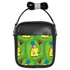 Party Kid A Completely Seamless Tile Able Design Girls Sling Bags