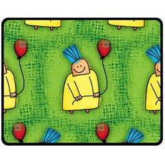 Party Kid A Completely Seamless Tile Able Design Fleece Blanket (Medium)