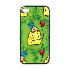Party Kid A Completely Seamless Tile Able Design Apple Iphone 4 Case (black)