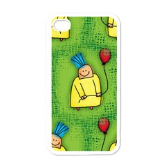 Party Kid A Completely Seamless Tile Able Design Apple Iphone 4 Case (white)