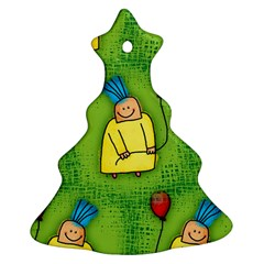 Party Kid A Completely Seamless Tile Able Design Ornament (Christmas Tree)