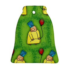 Party Kid A Completely Seamless Tile Able Design Bell Ornament (Two Sides)