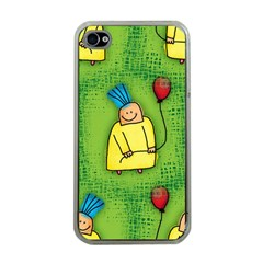 Party Kid A Completely Seamless Tile Able Design Apple Iphone 4 Case (clear)