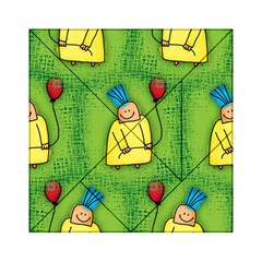 Party Kid A Completely Seamless Tile Able Design Acrylic Tangram Puzzle (6  x 6 )