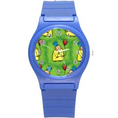 Party Kid A Completely Seamless Tile Able Design Round Plastic Sport Watch (s)