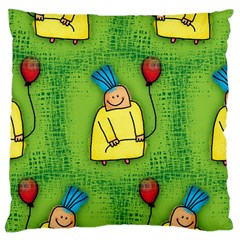 Party Kid A Completely Seamless Tile Able Design Large Cushion Case (One Side)
