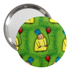 Party Kid A Completely Seamless Tile Able Design 3  Handbag Mirrors