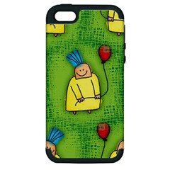 Party Kid A Completely Seamless Tile Able Design Apple Iphone 5 Hardshell Case (pc+silicone)