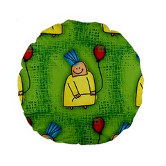 Party Kid A Completely Seamless Tile Able Design Standard 15  Premium Round Cushions