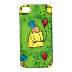 Party Kid A Completely Seamless Tile Able Design Apple iPhone 4/4S Hardshell Case with Stand