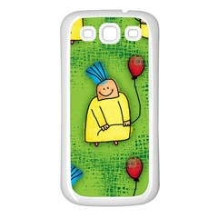 Party Kid A Completely Seamless Tile Able Design Samsung Galaxy S3 Back Case (white)