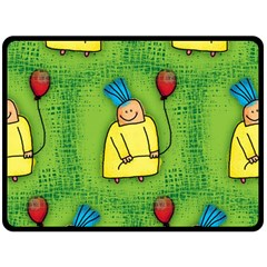 Party Kid A Completely Seamless Tile Able Design Double Sided Fleece Blanket (Large)