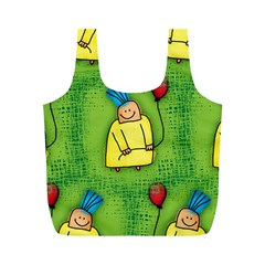 Party Kid A Completely Seamless Tile Able Design Full Print Recycle Bags (M)