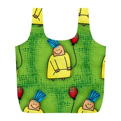 Party Kid A Completely Seamless Tile Able Design Full Print Recycle Bags (L)