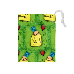 Party Kid A Completely Seamless Tile Able Design Drawstring Pouches (medium)