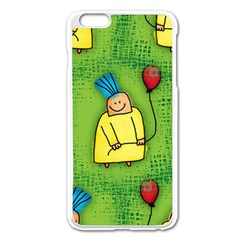 Party Kid A Completely Seamless Tile Able Design Apple Iphone 6 Plus/6s Plus Enamel White Case