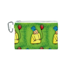 Party Kid A Completely Seamless Tile Able Design Canvas Cosmetic Bag (S)