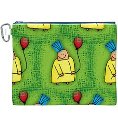 Party Kid A Completely Seamless Tile Able Design Canvas Cosmetic Bag (xxxl)