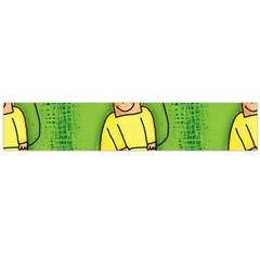 Party Kid A Completely Seamless Tile Able Design Flano Scarf (Large)