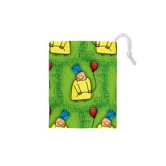 Party Kid A Completely Seamless Tile Able Design Drawstring Pouches (XS)