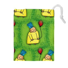 Party Kid A Completely Seamless Tile Able Design Drawstring Pouches (Extra Large)