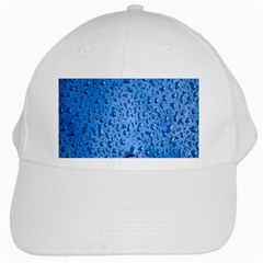Water Drops On Car White Cap