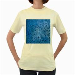 Water Drops On Car Women s Yellow T Shirt