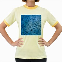 Water Drops On Car Women s Fitted Ringer T Shirts