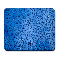 Water Drops On Car Large Mousepads