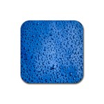 Water Drops On Car Rubber Coaster (Square)  Front