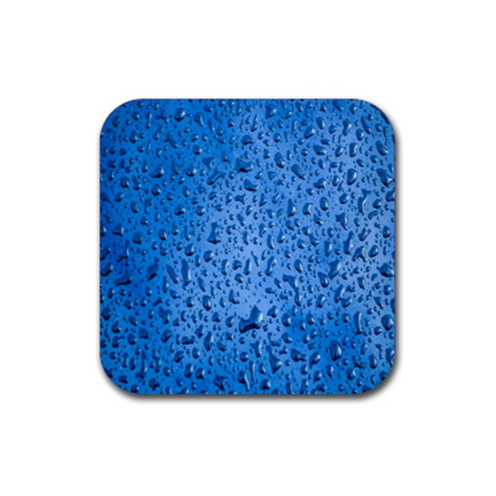 Water Drops On Car Rubber Coaster (Square)