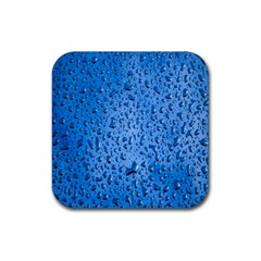 Water Drops On Car Rubber Square Coaster (4 pack)