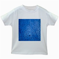 Water Drops On Car Kids White T Shirts
