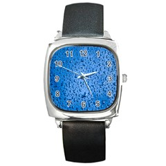 Water Drops On Car Square Metal Watch