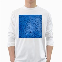Water Drops On Car White Long Sleeve T Shirts