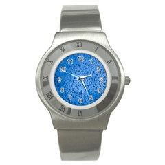 Water Drops On Car Stainless Steel Watch
