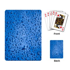 Water Drops On Car Playing Card