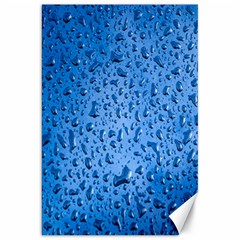 Water Drops On Car Canvas 20  X 30
