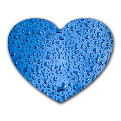 Water Drops On Car Heart Mousepads